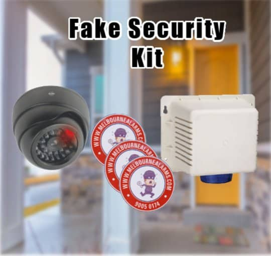 Fake Security System – Siren, Camera & Stickers